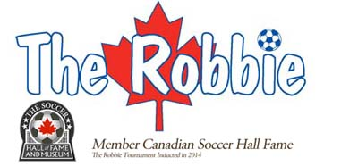 The Robbie Soccer Tournament – Toronto ON Logo
